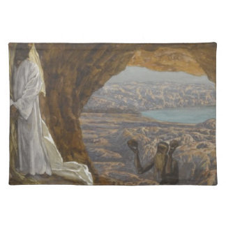 Jesus Tempted in Wilderness Placemat