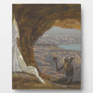 Jesus Tempted in Wilderness Plaque