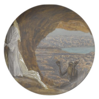 Jesus Tempted in Wilderness Plate