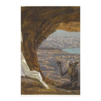 Jesus Tempted in Wilderness Stationery
