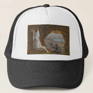 Jesus Tempted in Wilderness Trucker Hat