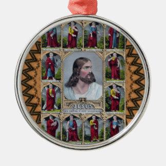 Jesus & The 12 Apostles Metal Ornament