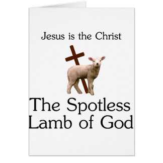 Jesus the Christ, spotless lamb of God Card