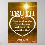 Jesus The Light Of Truth Bible Verse-Customise Print