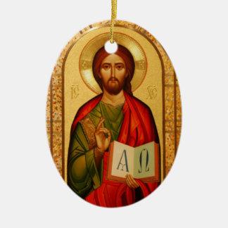 Jesus the Teacher Ceramic Oval Decoration
