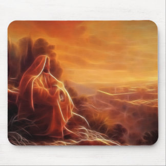Jesus Thinking About You Mouse Pad