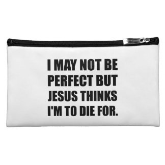 Jesus To Die For Cosmetic Bags