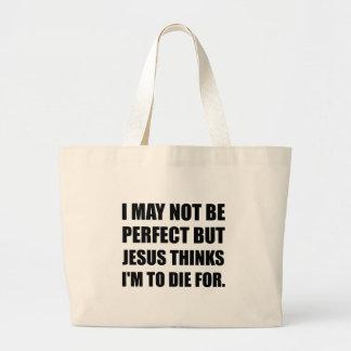 Jesus To Die For Large Tote Bag