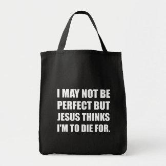 Jesus To Die For Tote Bag