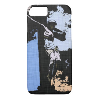 Jesus Tribute Faded Denim Art Print iPhone 7 Case