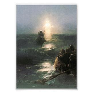 Jesus Walking on Stormy Seas Photo