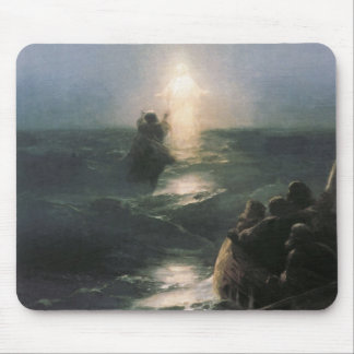 Jesus Walking on Water, Ivan Aivazovsky Painting Mouse Pad