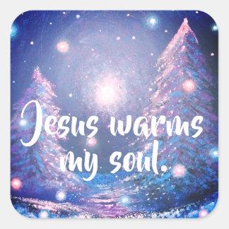 Jesus Warms My Soul Christian Planner Sticker