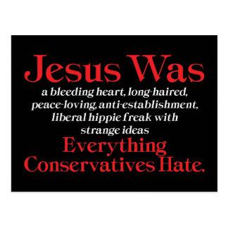 Jesus Was A Bleeding Heart Postcards