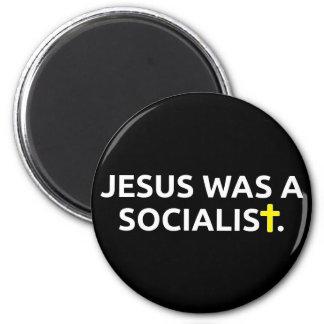 Jesus Was A Socialist (black) 6 Cm Round Magnet