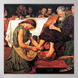 Jesus Washing Peter's Feet (2) Poster