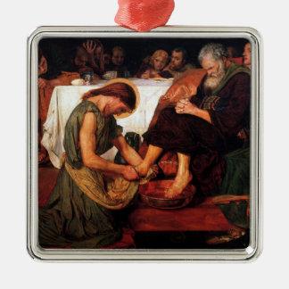 Jesus Washing Peter's Feet Metal Ornament