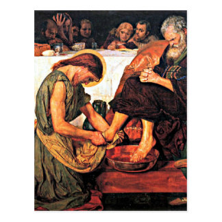 Jesus Washing Peter's Feet Postcard