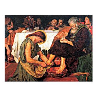 Jesus Washing Peter's Feet Postcard