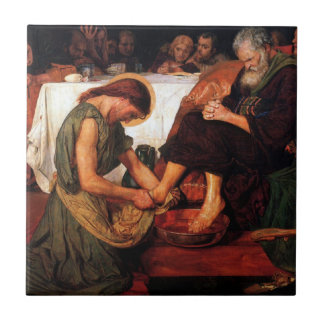 Jesus Washing Peter's Feet Small Square Tile