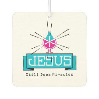 JESUS Water to Wine Miracle Car Air Freshener