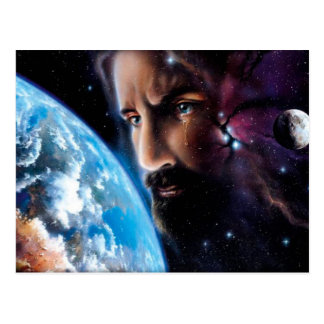 Jesus weeping postcard