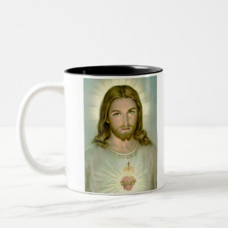 jesus, WHAT WOULD JESUS DO? Two-Tone Coffee Mug