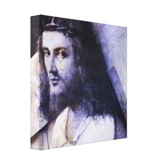 Jesus With Cross Gallery Wrap Canvas