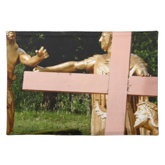 Jesus with cross placemat