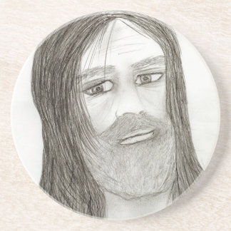 Jesus with Halo Drink Coasters