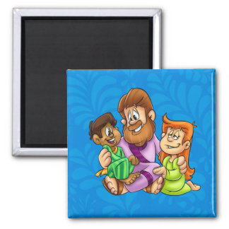 Jesus with kids magnet