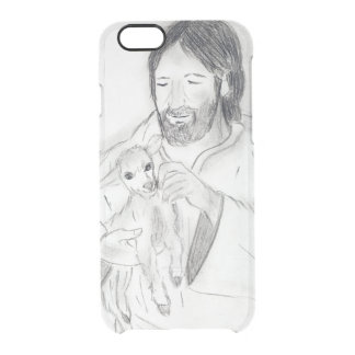 Jesus With Lamb Clear iPhone 6/6S Case