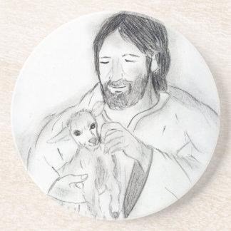 Jesus With Lamb Coasters