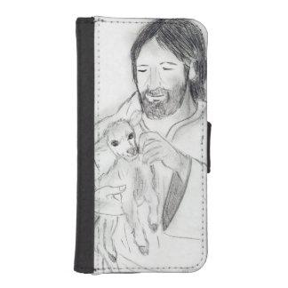 Jesus With Lamb iPhone SE/5/5s Wallet Case