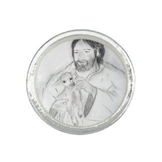 Jesus With Lamb Ring