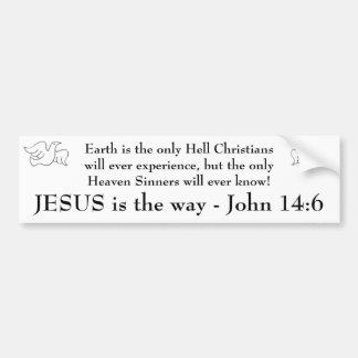 JESUS Witnessing Bumper Sticker