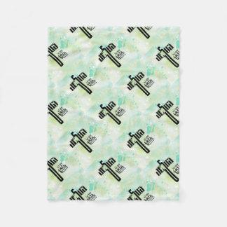 Jesus Word Art Fleece Blanket