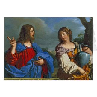 Jesus y la Samaritana en el pozo Greeting Card