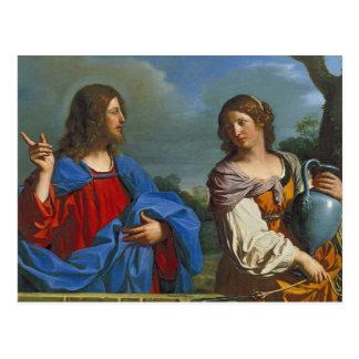 Jesus y la Samaritana en el pozo Postcard