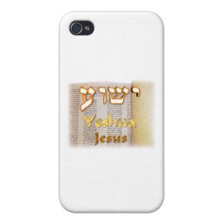 Jesus (Yeshua) in Hebrew iPhone 4 Cases