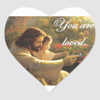 Jesus- You Are Loved Heart Sticker