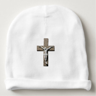 Jesuschrist on a Cross Sculpture Baby Beanie