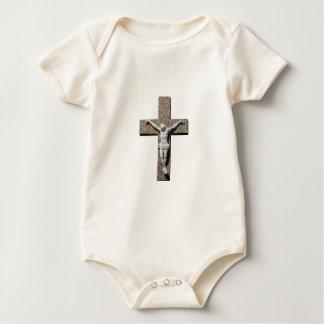 Jesuschrist on a Cross Sculpture Baby Bodysuit