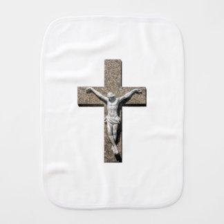 Jesuschrist on a Cross Sculpture Burp Cloth