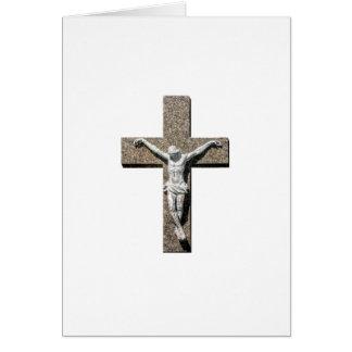 Jesuschrist on a Cross Sculpture Card