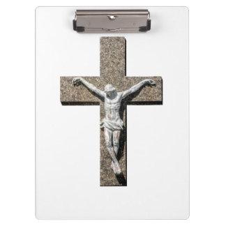 Jesuschrist on a Cross Sculpture Clipboard