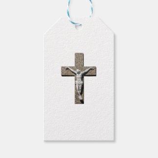 Jesuschrist on a Cross Sculpture Gift Tags
