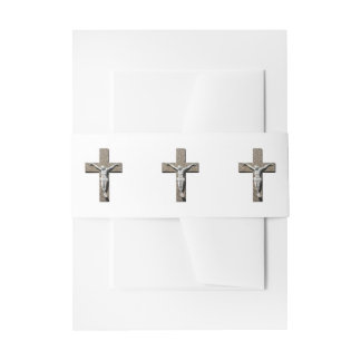 Jesuschrist on a Cross Sculpture Invitation Belly Band