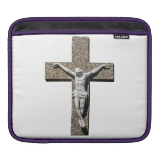 Jesuschrist on a Cross Sculpture iPad Sleeve