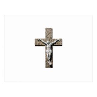 Jesuschrist on a Cross Sculpture Postcard